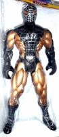Человек-паук в черном костюме.