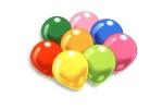 Шарики надувные разноцветные