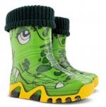 DEMAR Детские резиновые сапоги КРОКОДИЛ (зелёные)