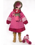 """Deux par Deux"" Зимнее детское пальто для девочки I-911-55"