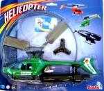 Полицейский вертолёт с пускателем на листе