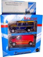 Набор машин спасательных служб (Land Rover и Renault)