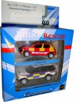 Набор машин спасательных служб (Peugeot и Range Rover)