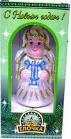 Ангелочек, стекло+крошка, подарочный