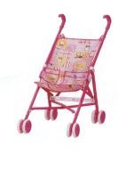Коляска-трость летняя, для кукол цвет: розовый.