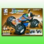 "Конструктор тип Лего ""Мотогонка"" в коробке """