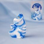 Свеча голубой дракончик